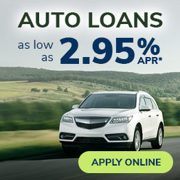 Auto Loans as low as 2.95% APR*. Apply Online